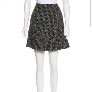 Vintage Chanel A 97 Tweed Wool Skirt size 10 Large
